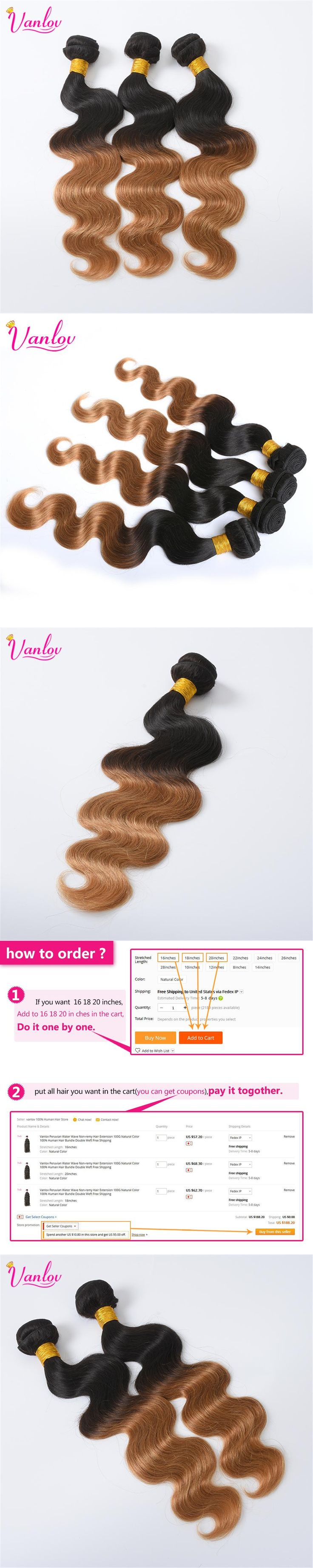 Best 25 remy hair extensions ideas on pinterest hair extensions vanlov ombre brazilian body wave hair bundles blonde hair extension non remy hair weave human hair pmusecretfo Images