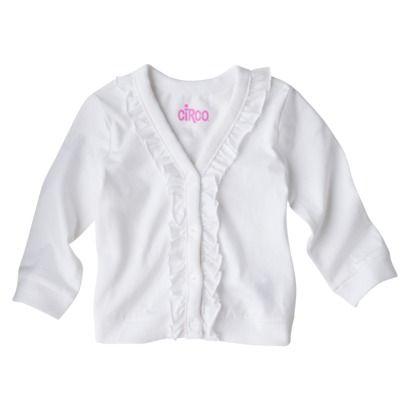 Circo Newborn Girls Long sleeve Cardigan White