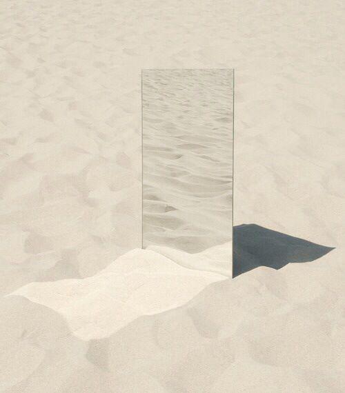 miroir et sable