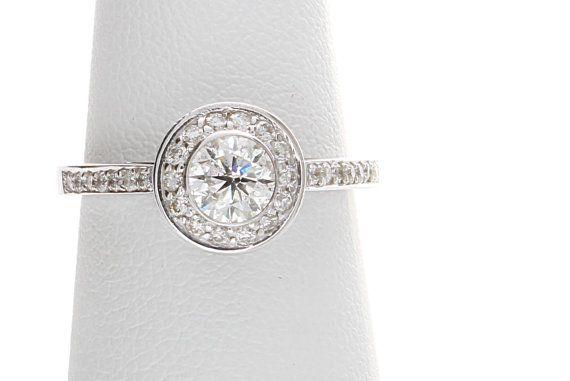 Bezel Set Diamond Engagement Ring Unique Diamond door cldiamonds