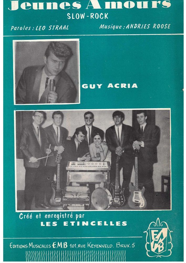 GUY ACRIA - JEUNES AMOURS - SLOW ROCK - LES ETINCELLES - MUSIKNOTE PIANO GESANG