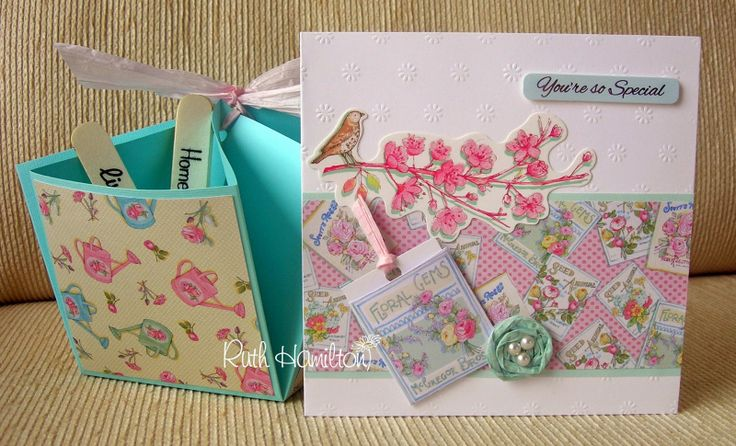 """A Passion For Cards: Forget Me Not card and """"Basket"""" - and news of a demo in Dublin"""