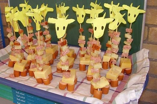 giraf: cute idea for a birthday treat at school