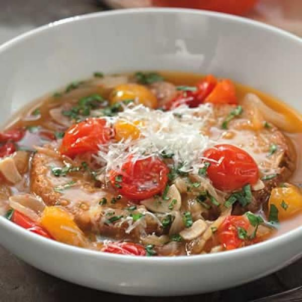 Roasted Tomato-Bread Soup | KitchenDaily.com | Soups and ...