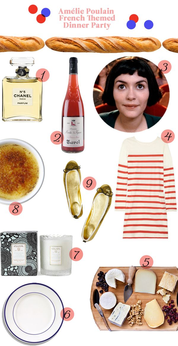 Entertaining ideas for an Amelie themed French dinner party