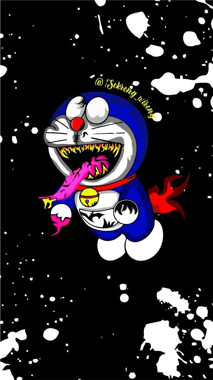 Doraemon Zombie Seni 3d Desain Doraemon zombie wallpaper images