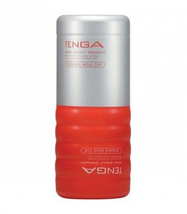 Double Hole Cup Masturbator - Tenga. A two in one male masturbator that simulates both vaginal and anal play. R299.00