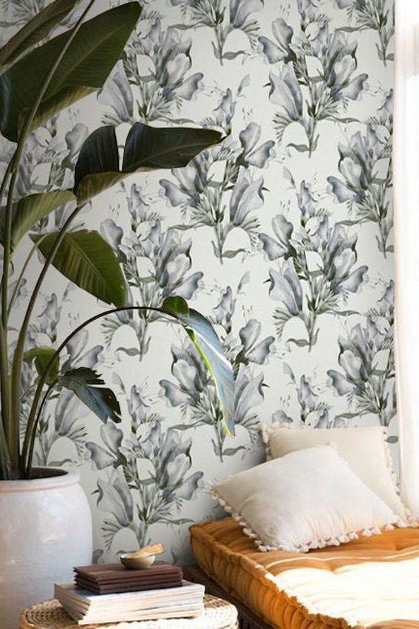 Classic Vintage Wildflower Pattern Peel Stick Repositionable Etsy Diy Decor Fabric Wallpaper Decor