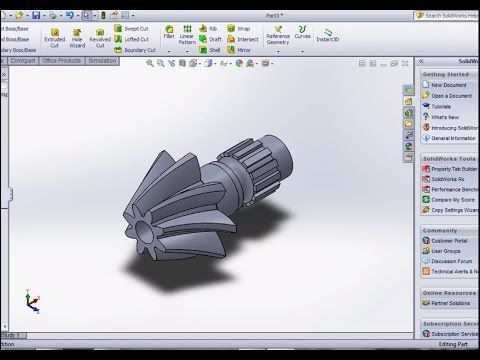 SolidWorks Create Bevel Gear - YouTube