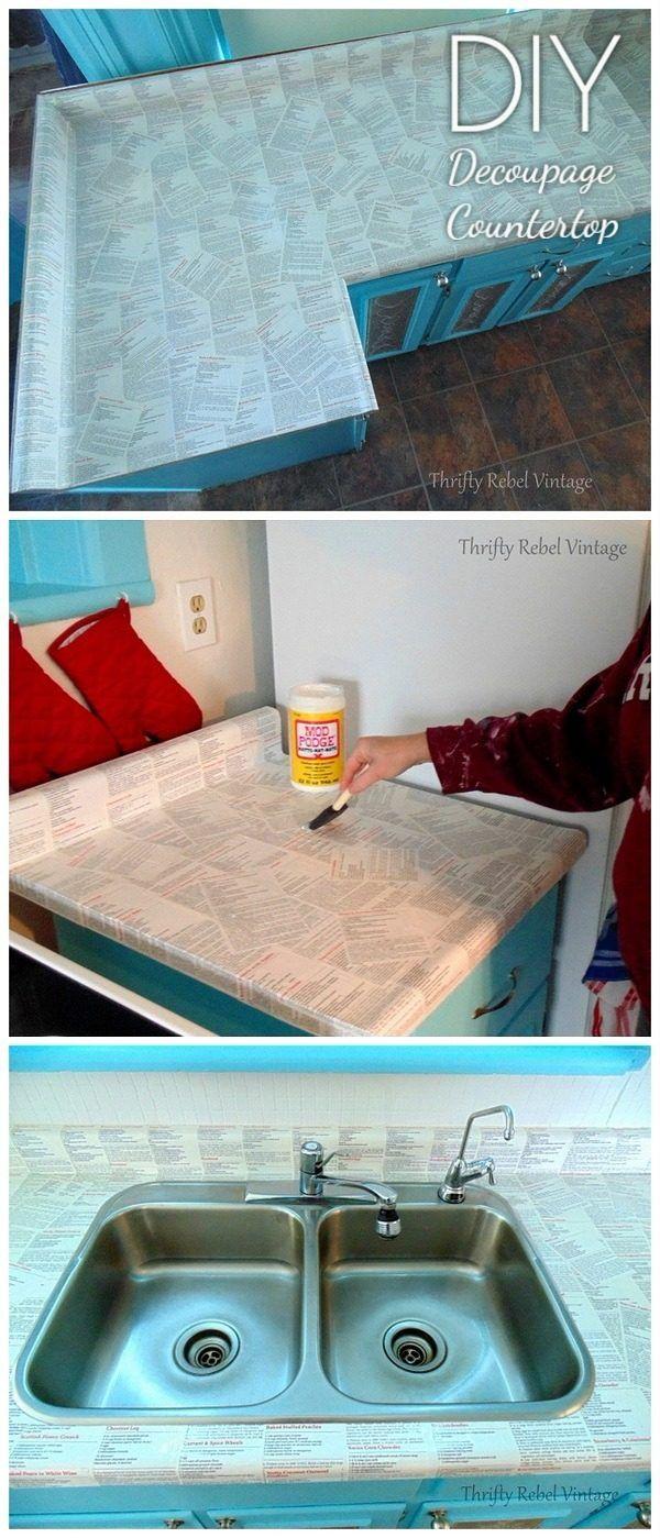 Peachy Diy Countertop 20 Easy Tutorials To Revamp Your Kitchen Download Free Architecture Designs Estepponolmadebymaigaardcom