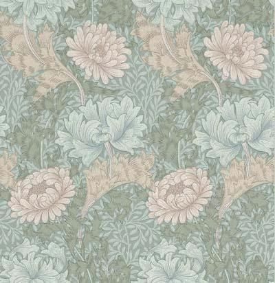 Chrysanthemum (WM7612/7) - Morris Wallpapers - A flat wallpaper that is suitable for use in most rooms. However it is not recommended for use in kitchens or bathrooms.