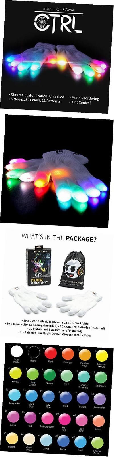Other Battery Op Toys 1990-Now 38287: Elite Chroma Ctrl Led Gloves, 5 Light Flashing Modes - #1 Leader In Gloving And -> BUY IT NOW ONLY: $78.53 on eBay!