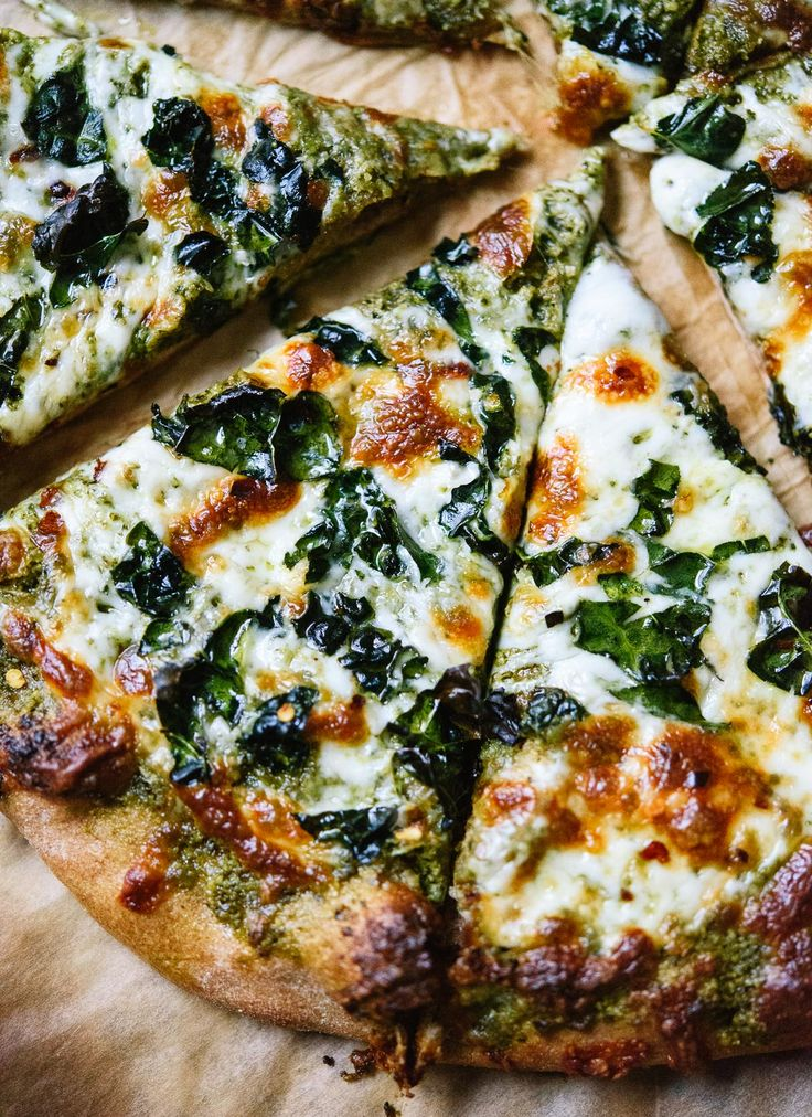 Kale pesto pizza - a simple and fun weeknight pizza! cookieandkate.com