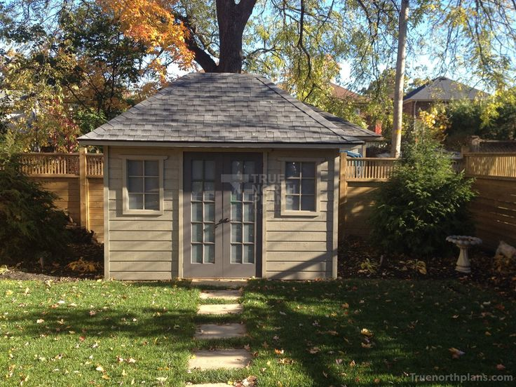 Need a backyard shed for your garden? Let our 8x12 home studio plans help you achieve that