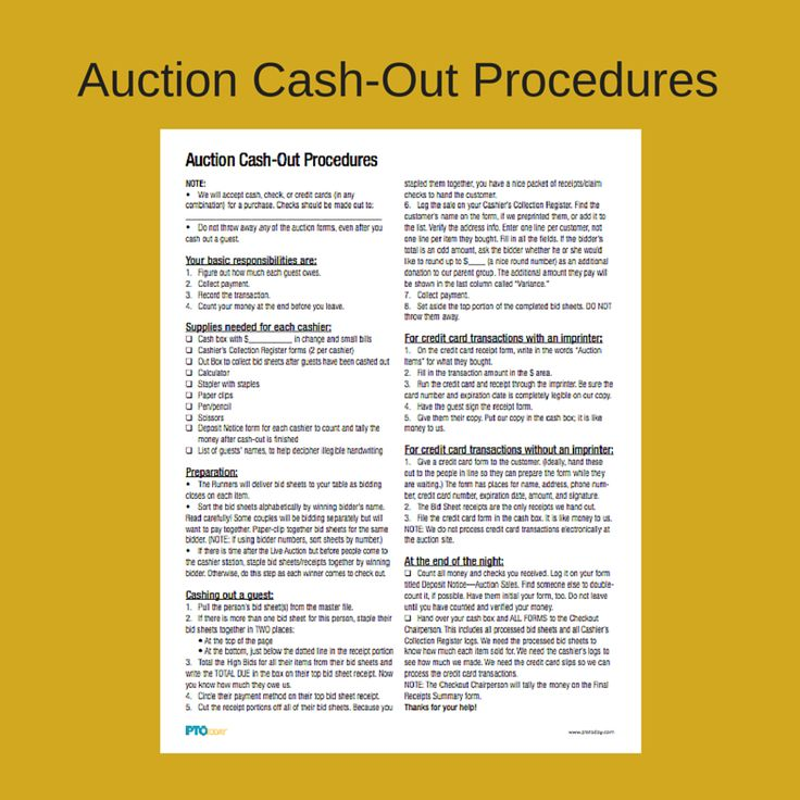 Helpful tips to follow when wrapping up your auction.