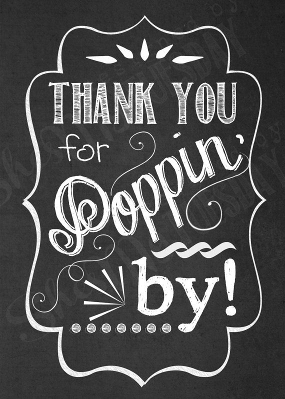 Thank You for Poppin' In  Favor Tags - Shower Tags - Popcorn Favor Tag -  Ready to POP - Thank You Tags on Etsy, $6.00
