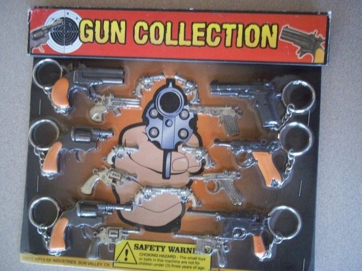 NEW Lot 18 pieces Metal Pistol Gun Key Chain Fast Free Shipping Factory Sealed in | eBay