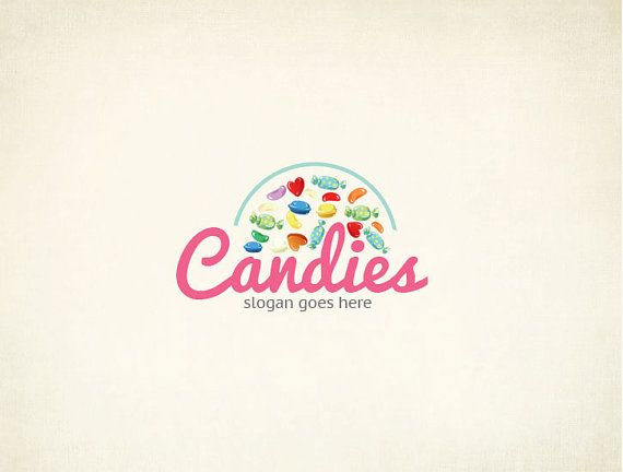 Custom Candie Logo Design/ Candie Shop by MaggieArtStudio on Etsy