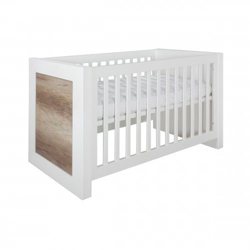 Costa - Cot bed 70x140 - Costa white / oldwood - Nursery Furniture   Kidsmill