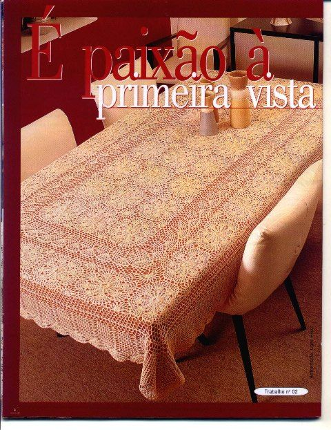 Vintage-love crochet tablecloth ♥LCT♥ with diagrams