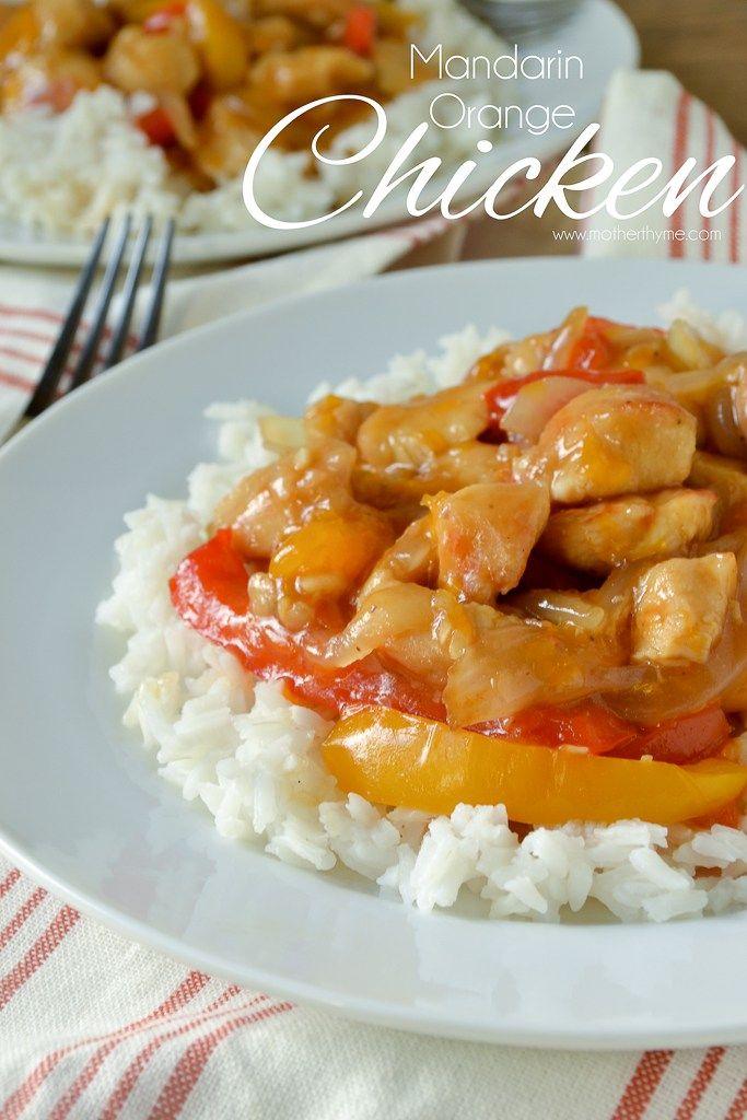 Mandarin Orange Chicken - www.motherthyme.com