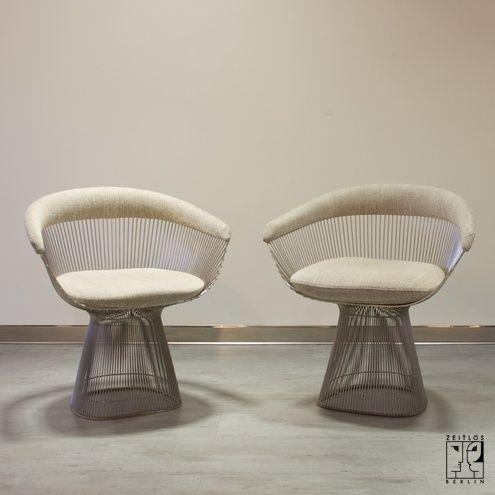 platner furniture. Pair Of Warren Platner Wirework Dining Chairs Furniture E