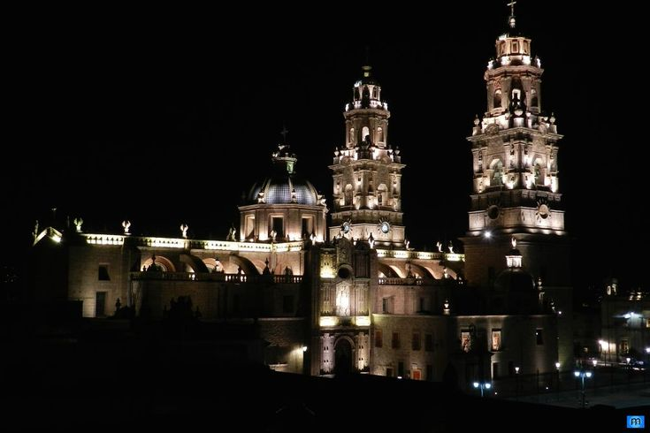 Morelia Cathedral, radiant. by Pablo Muniz
