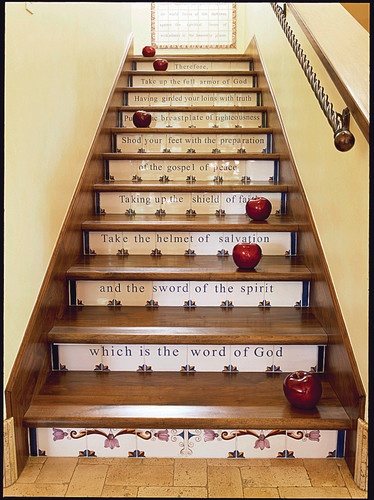 Bible Verse Stairs
