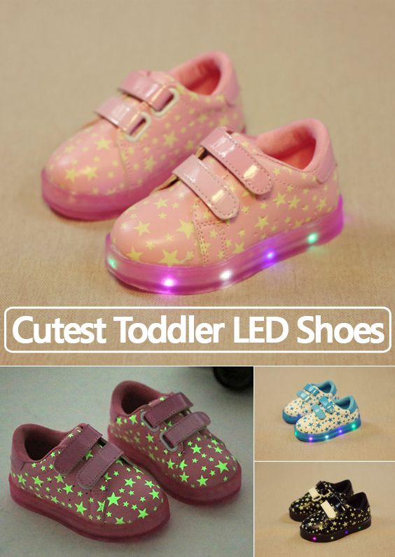 Kids favorite LED shoes are here! New styles with luminous stars!