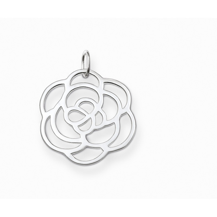 Thomas Sabo Large Rose Cut Out Disc Pendant
