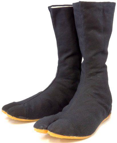 Ninja Shoes, Jikatabi, Rikkio Tabi Boots(US 5~12) Black / White!! +Travel bag (US 8.5 (26.5cm), Black): White Bags, Jikatabi Outdoor, Rikkio Tabi, Black White, Rikio Fighter, Outdoor Tabi, Ninja Shoes, Black Jikatabi