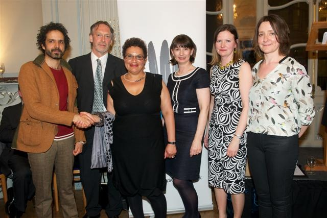 National Poetry Competition 2011 winners and judges. From L to R: Zaffar Kunial, John Glenday, Jackie Kay, Allison McVety, Samantha Wynne-Rhydderch, Colette Bryce.