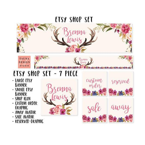 The 252 best My Etsy Shop images on Pinterest - Etsy Banner Template