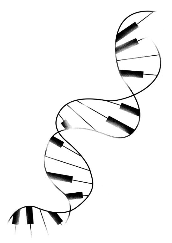 DNA Piano Art Print