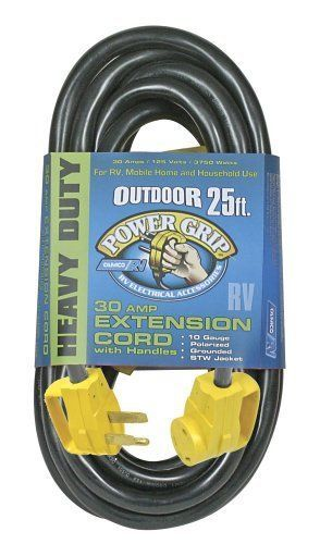 Camco 55191 25 PowerGrips Power Cord Electrical RV Equipment RV Campers Parts  #Camco