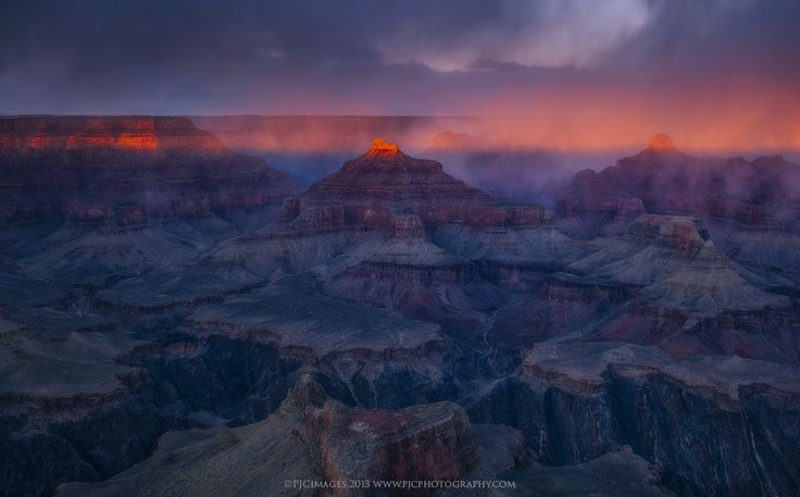 Temples of Light - This is an older image from perhaps my favorite trip to the south rim of the Grand Canyon. There was just something about this evening that provided me with some of the most memorable and dramatic light I could recall. Interestingly enough, there was never a crazy sunset that lit the entire sky. Just this very brief window where the ridges and temples towards the north rim of the canyon lit up in crimson hues. I remember posting an image of this moment back then (2013)…