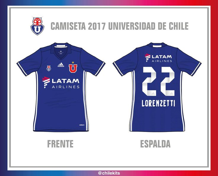 The Universidad de Chile 2017 kit introduces a clean design, made by Adidas.