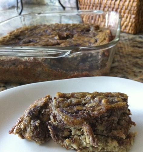 Gluten/Grain-Free Cinnamon Swirl Banana Cake