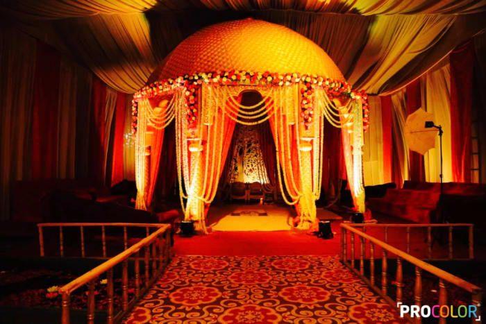 Decoration Ideas - The Mandap Decor! Photos, Punjabi Culture, Beige Color, Decoration, Wedding, Candid Clicks pictures, images, Vendor credits - WeddingPlz