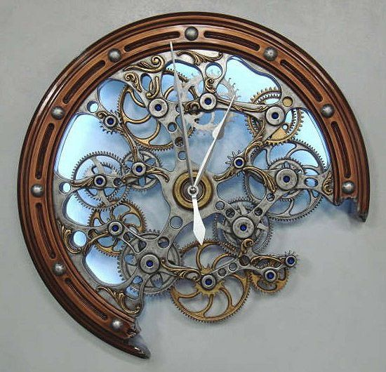 steampunk wall clock. Trying to find a clock Rob and I agree on...you wouldn't think that would be so hard...