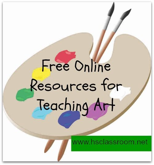 Free Online Resources for Teaching art to your children #homeschool #preschool #teachers