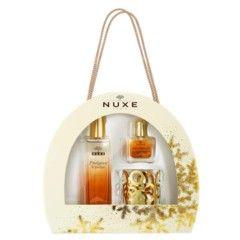 Nuxe nos ofrece en las Navidades de 2015 un precioso cofre regalo con su Perfume Prodigieux, lleno de sensualidad con notas florales y nacido del mítico Huile Prodigieuse, acompañado de Huile Prodigieuse Or en formato de viaje y un elegante brazalete...
