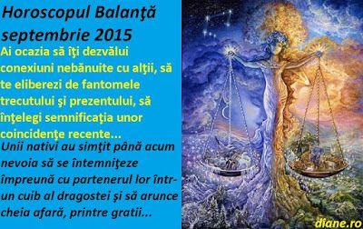 diane.ro: Horoscop Balanţă septembrie 2015
