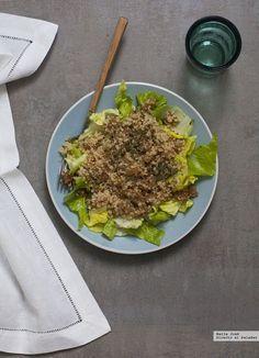 Ensalada de nabo quinoa y semillas de sésamo tostado. Receta http://ift.tt/OAtrnL