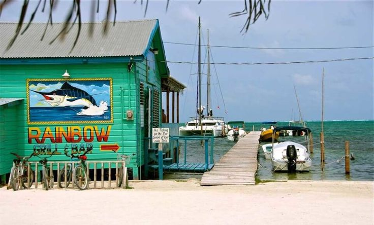 Where to eat in Caye Caulker Belize - Rainbow Bar and Grill