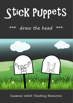 Stick puppets - draw the head