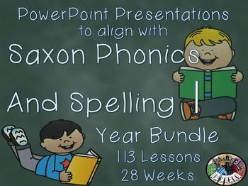 Saxon Phonics and Spelling 1st Grade 1 Year Long Bundle Po