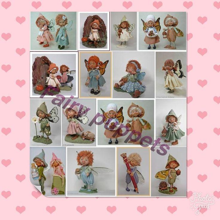 Fairy puppets  Gemaakt van boetseerklei , op internet veel over te vinden. Ik zou er graag één kopen maar kan dat niet vinden. Zo'n crea bea ben ik namelijk niet hi hi