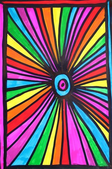 Sharpie Art with Photo Paper: create glossy stained glass artwork with sharpie markers and photo paper