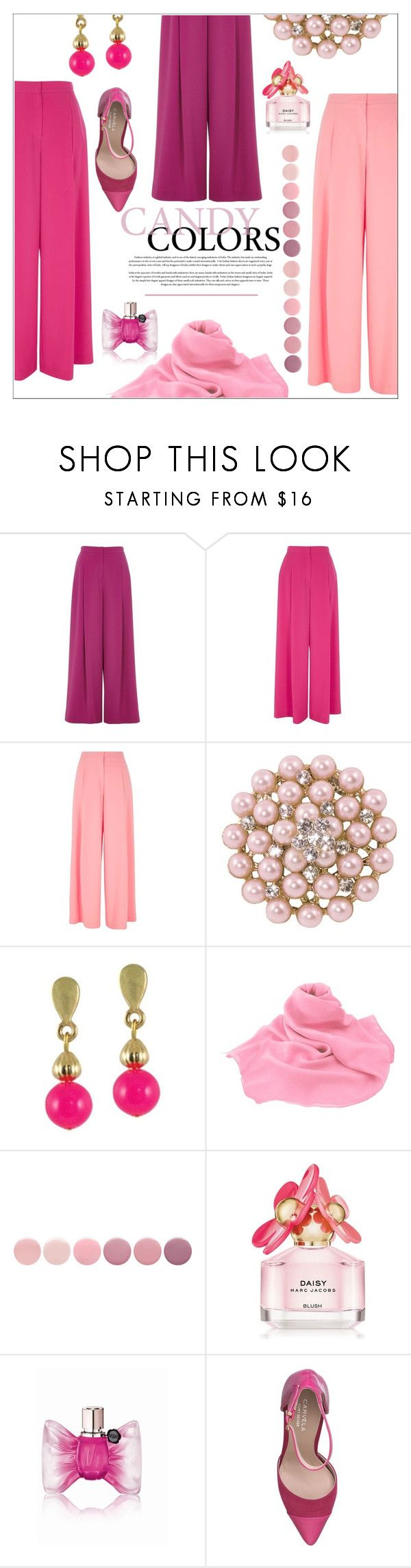 """""""Pinks #1"""" by eternal-collection ❤ liked on Polyvore featuring River Island, Deborah Lippmann, Marc Jacobs, Viktor & Rolf and Carvela"""